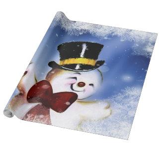 Papel De Regalo Muñeco de nieve lindo del baile