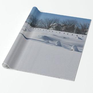Papel De Regalo Navidad blanco quebradizo de la nieve
