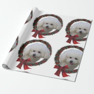 Papel De Regalo Navidad de Bichon Frise