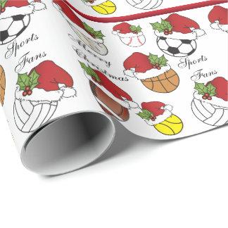 Papel De Regalo Navidad de las bolas el | del deporte del jugador