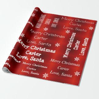 Papel De Regalo Navidad personalizado de Santa