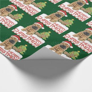 Papel De Regalo Navidad Shar Pei