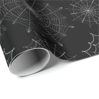 Papel De Regalo Negro fantasmagórico Samhain del insecto de