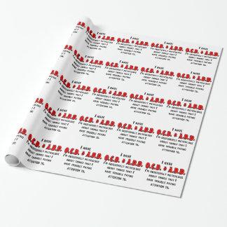 Papel De Regalo Negro/rojo de OCD-ADD