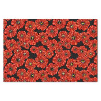 Papel de regalo negro y rojo del papel seda de las