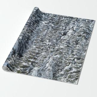 Papel De Regalo Nieve en el bosque