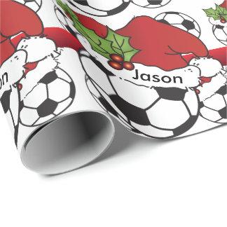 Papel De Regalo Nombre del balón de fútbol del navidad del gorra