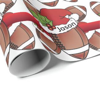 Papel De Regalo Nombre del fútbol el | DIY del navidad del gorra