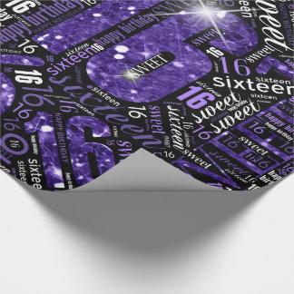 Papel De Regalo Nube ID265 púrpura de la palabra de la chispa del