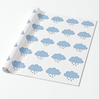 """Papel De Regalo Nube """"tan a la derecha como la lluvia """""""