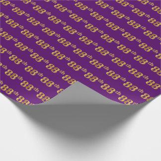 Papel De Regalo Ochenta-Octavo) acontecimiento púrpura, falso del