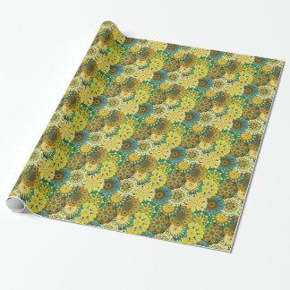 Papel De Regalo Oriente la mandala azul y amarillee el adorno