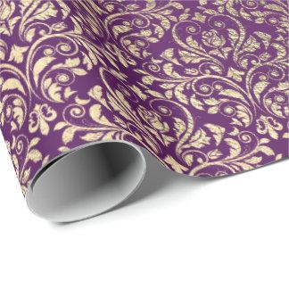 Papel De Regalo Oro púrpura del ciruelo de la uva de la violeta de