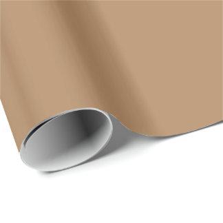 Papel De Regalo ~ OSCURO del MORENO (o color sólido marrón claro)