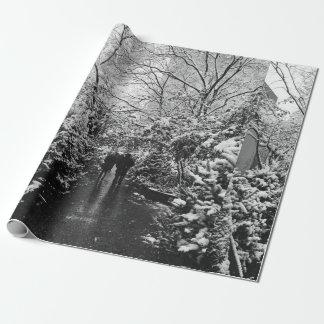 Papel De Regalo País de las maravillas del invierno de NYC
