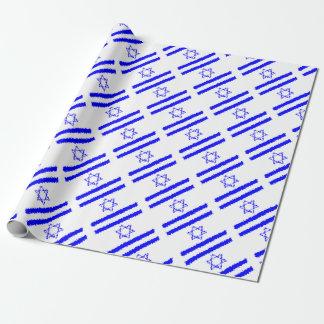 Papel De Regalo País del azul de Israel de las banderas