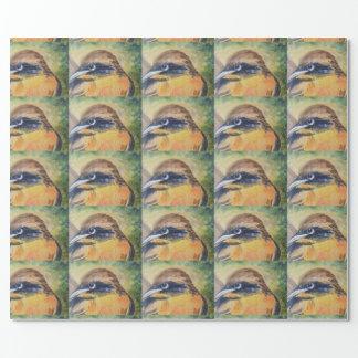 Papel De Regalo Pájaro amarillo y negro feroz
