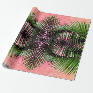 Papel De Regalo Palmas hawaianas reales
