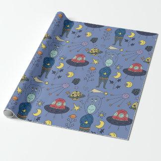 Papel De Regalo ¡Papel de embalaje - hola Sr. Alien!