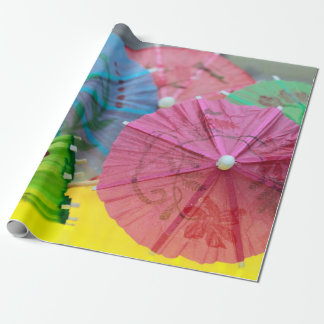 Papel De Regalo Parasoles en colores pastel