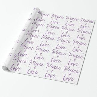 Papel De Regalo Paz-y-Amor-Púrpura