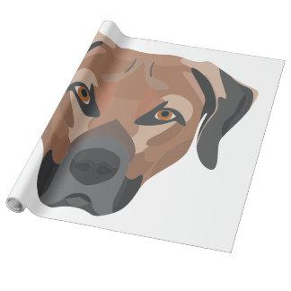Papel De Regalo Perro Brown Labrador del ilustracion