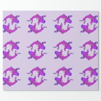 Papel De Regalo Pescados púrpuras bonitos de Piscis
