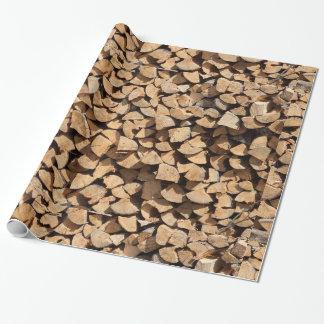 Papel De Regalo Pila de madera