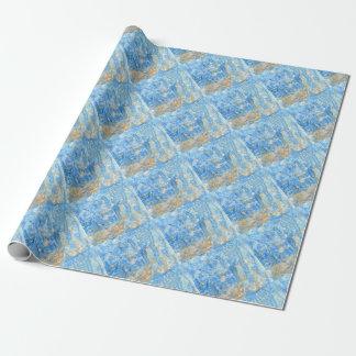 Papel De Regalo Pintura azul abstracta