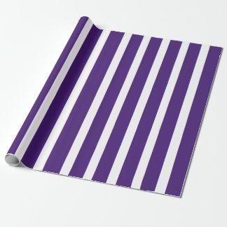 Papel de regalo púrpura de la raya