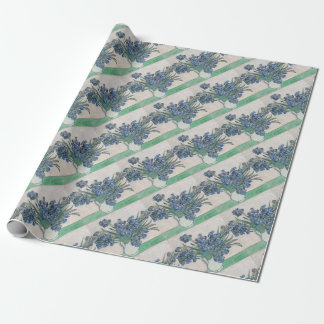 Papel De Regalo Ramo de flores en sombra azul