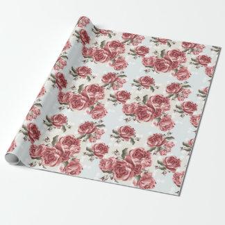Papel De Regalo Ramo dibujado romántico de los rosas rojos del
