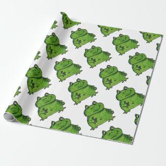 Papel De Regalo Rana Frog