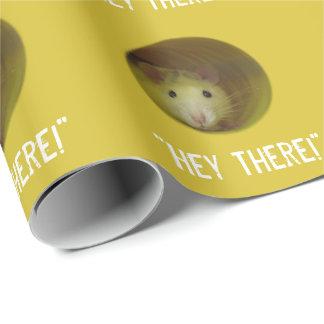 Papel De Regalo Rata linda en animal divertido del agujero