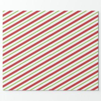 Papel De Regalo Rayas del bastón de caramelo del navidad