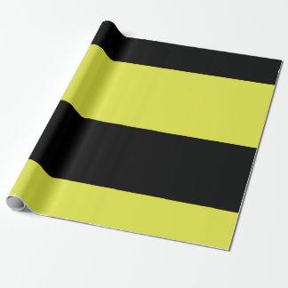 Papel De Regalo Rayas negras y amarillas