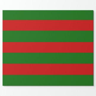 Papel De Regalo Rayas rojas y verdes