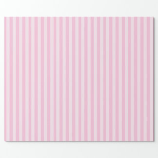 Papel De Regalo Rayas rosadas y blancas