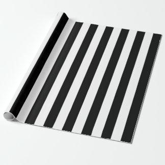 Papel De Regalo Rayas verticales negras