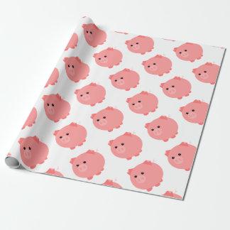 Papel de regalo rechoncho lindo del cerdo
