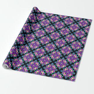 Papel De Regalo Rosa de Diwali Giftwrap, azul, modelo negro de
