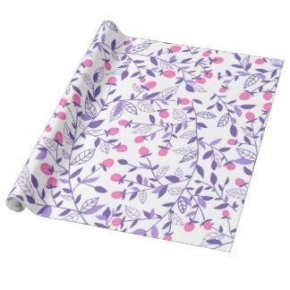 Papel De Regalo Rosa y violeta florales de los doodles
