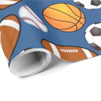 Papel De Regalo Se divierte el modelo del baloncesto del béisbol
