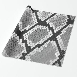 Papel De Regalo Serpiente impresión gris, del blanco y del negro