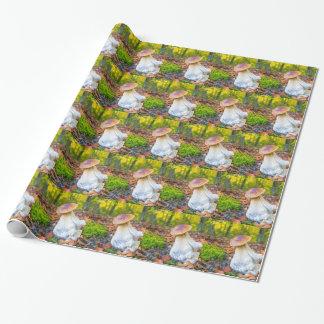 Papel De Regalo Seta comestible del porcini en piso del bosque en