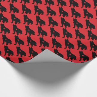 Papel De Regalo Silueta americana de Terrier de pitbull