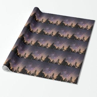 Papel De Regalo Silueta de árboles en la noche