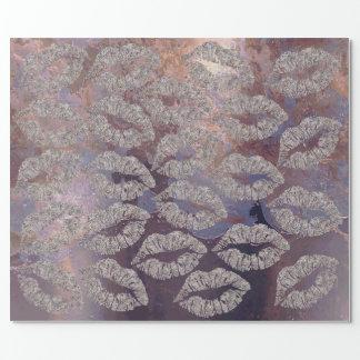 Papel De Regalo Sucio metálico púrpura del cobre del maquillaje de