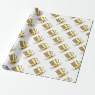 Papel De Regalo Taza de café de oro