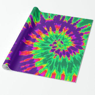 Papel De Regalo Teñido anudado púrpura y verde